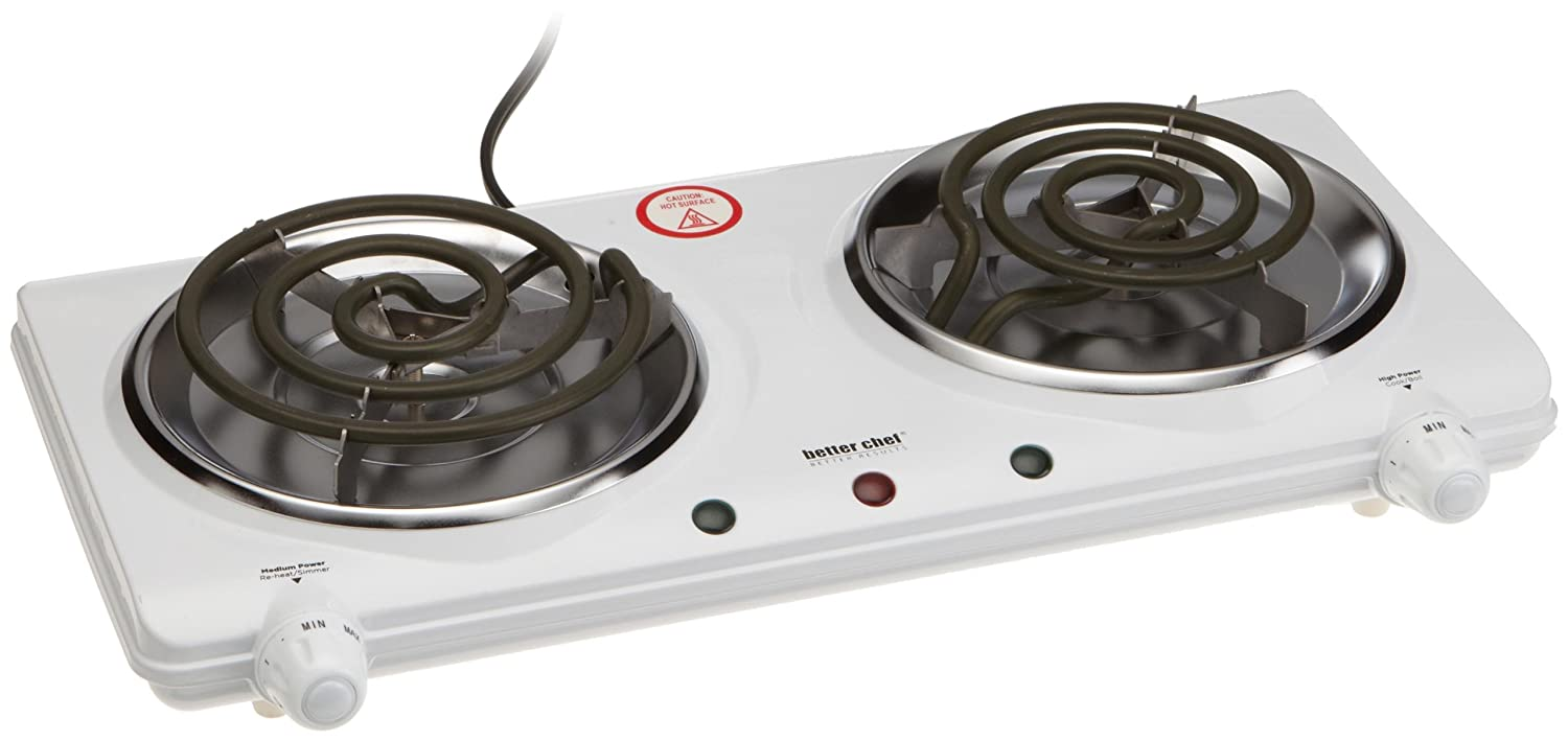 Electric Double Burner Cooktop Stove Top Dual Range Portable Countertop Cooki