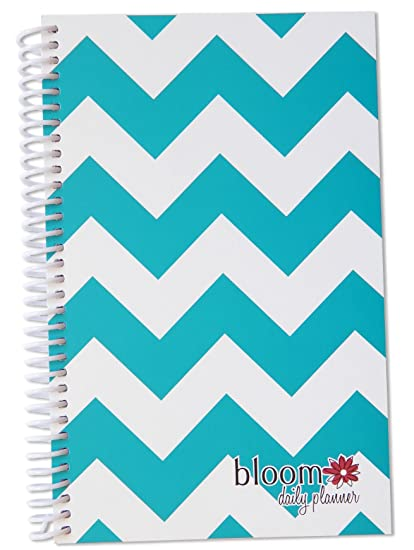 bloom daily planners 2015 Calendar Year Planner - Passion/Goal Organizer - Fashion Agenda - Weekly Diary - Monthly Datebook - (January 2015 Through December 2015) Teal Chevron