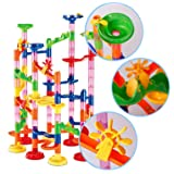 dOvOb Marble Run Construction Building Blocks STEM Toys - Railway Set - Marble Games for 3~10 Years Old Boys & Girls Kids As Gifts
