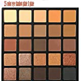 Eyeshadow Palette,lotus.flower 25Colors Waterproof Morphe 25A Copper Spice OR 25B Bronzed Mocha Color Eyeshadow Palette U Choose (A) (Color: A, Tamaño: Medium)