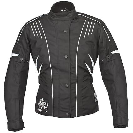 Roleff Racewear 9701 Blouson Moto Florence pour Femmes, Noir/Blanc, XS