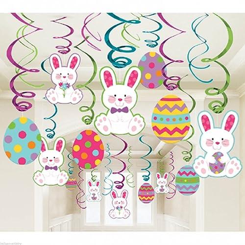 Amscam Easter Mega Value Pack Foil Swirl Decorations Multicolor
