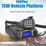 Mobile Ham Radio Transceiver Dual Band 144/430MHz VHF(75W)/UHF(50W) 200CH High Power Two Way Radio FM Amateur VHF UHF Mobile Radio ST-980Plus PC Programmable Car Radio Station SOCOTRAN (Color: Black, Tamaño: Large)