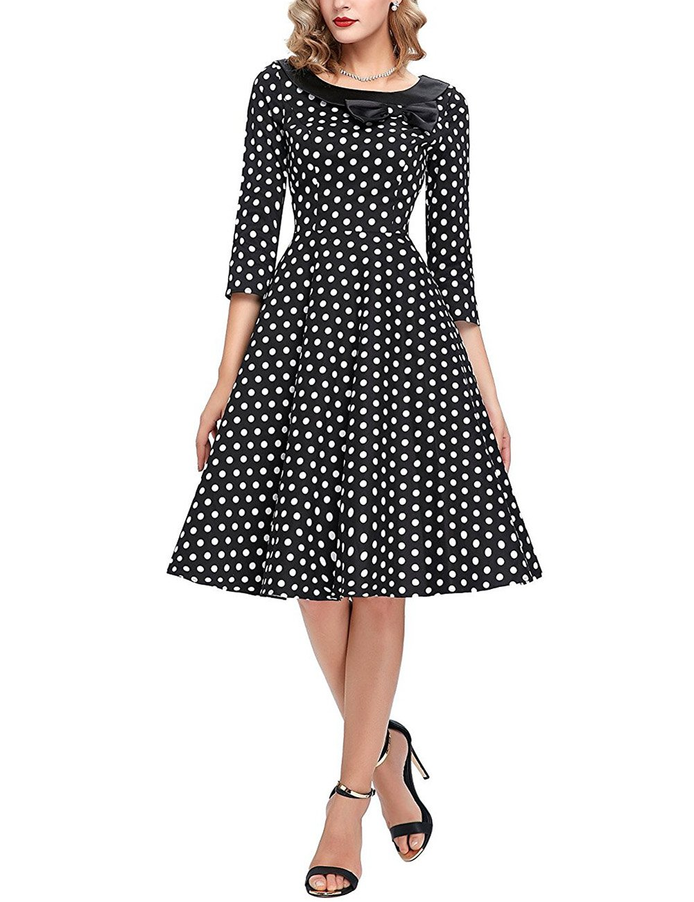 GlorySunshine Women's Vintage Swing Polka Dot Dress 6