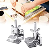INTBUYING Screen Frame Butterfly Hinge Clamps Screen Printing Clamp Galvanized Alloy 2PCs with Screw (Color: Silver)