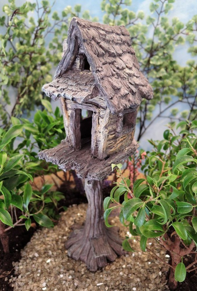 Amazon.com: Miniature Fairy Garden Tree House: Patio, Lawn & Garden