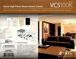 Niles VCS100K in Wall Volume Control Bundle - 6 Pack (Tamaño: 6 Pack)