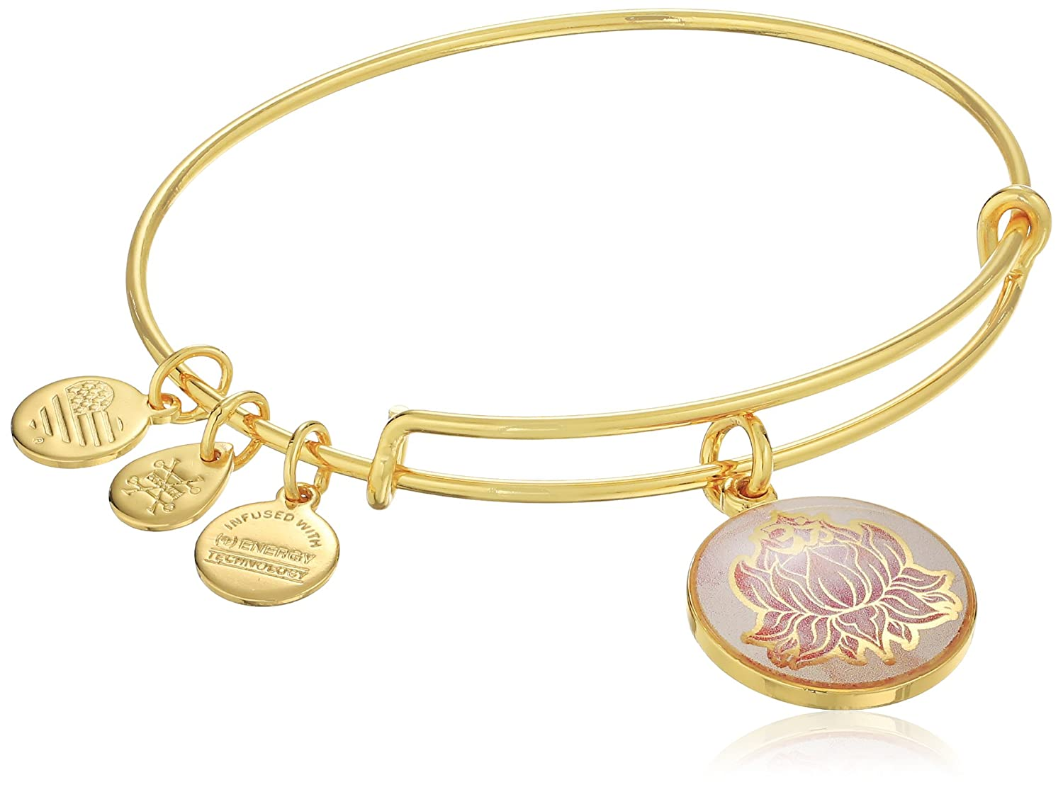 Alex and Ani Art Infusion Lotus Peace Petals EWB Rafaelian Yellow Gold Bangle Bracelet