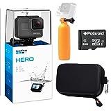 GoPro Hero (2018) Camera, Ritz Gear GoPro Case, Polaroid 8GB Class 10 MicroSD Card and Polaroid Floating Hand Grip Acessory Bundle