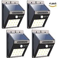 4-Pack Iextreme 12-LED Motion Sensor Solar Waterproof Wall Light