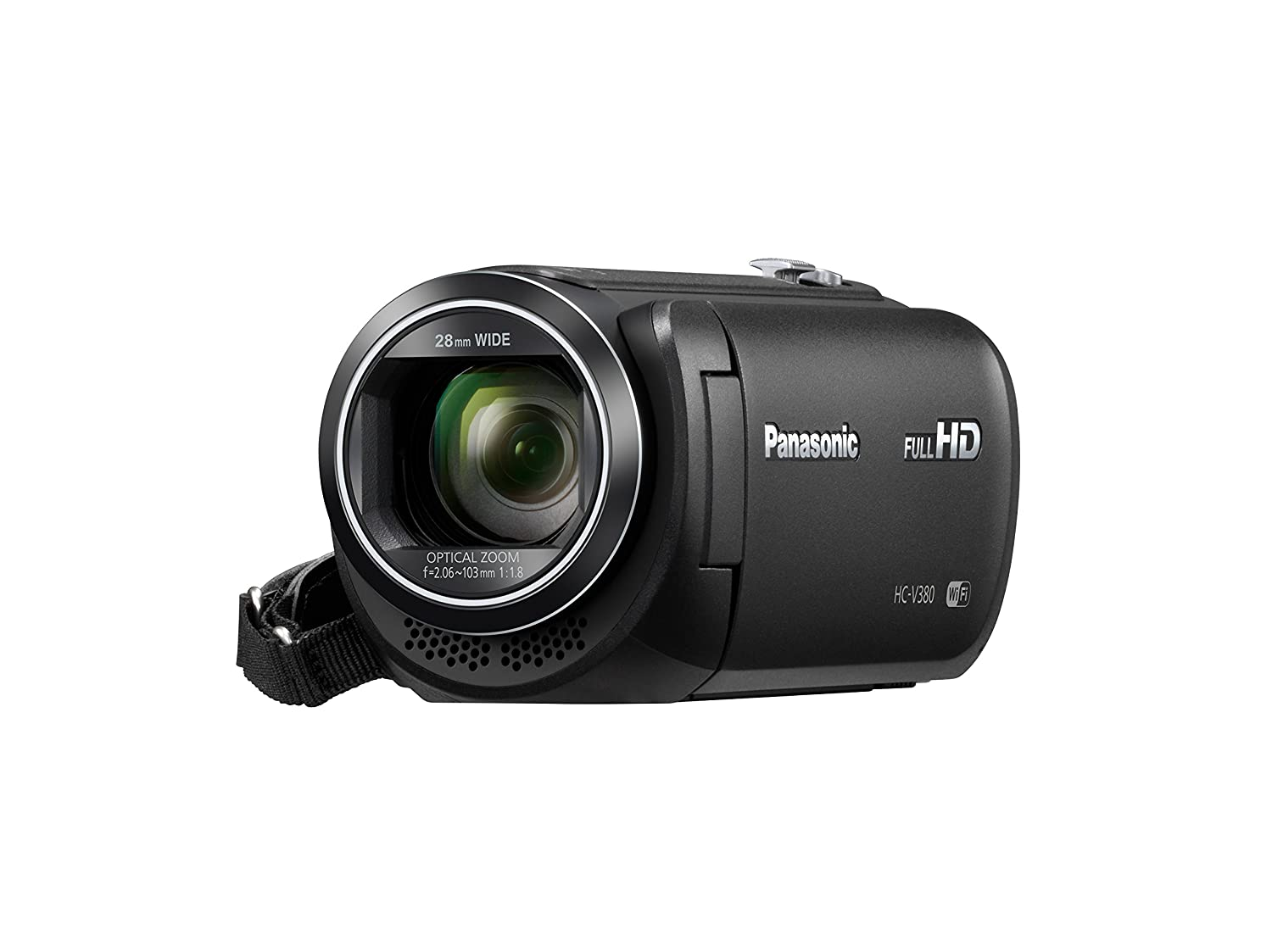 Panasonic HC-V380K Full HD Camcorder with Wi-Fi Multi Scene Twin Camera (Black)
