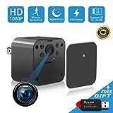 1080P Spy Camera, Hidden Camera, Mini Camera, USB Charger Camera, Night Vision Camera, Hidden Nanny Cam with Motion Detection Loop Recording for Home Office Indoor Pet Surveillance (Black) (Color: Black)