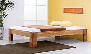 Bambusbett `Bali` braun - 40cm hoch - in vielen Größen / Möbel und Kolonialstilmöbel/ Variante: Matratzengröße: 200x200cm