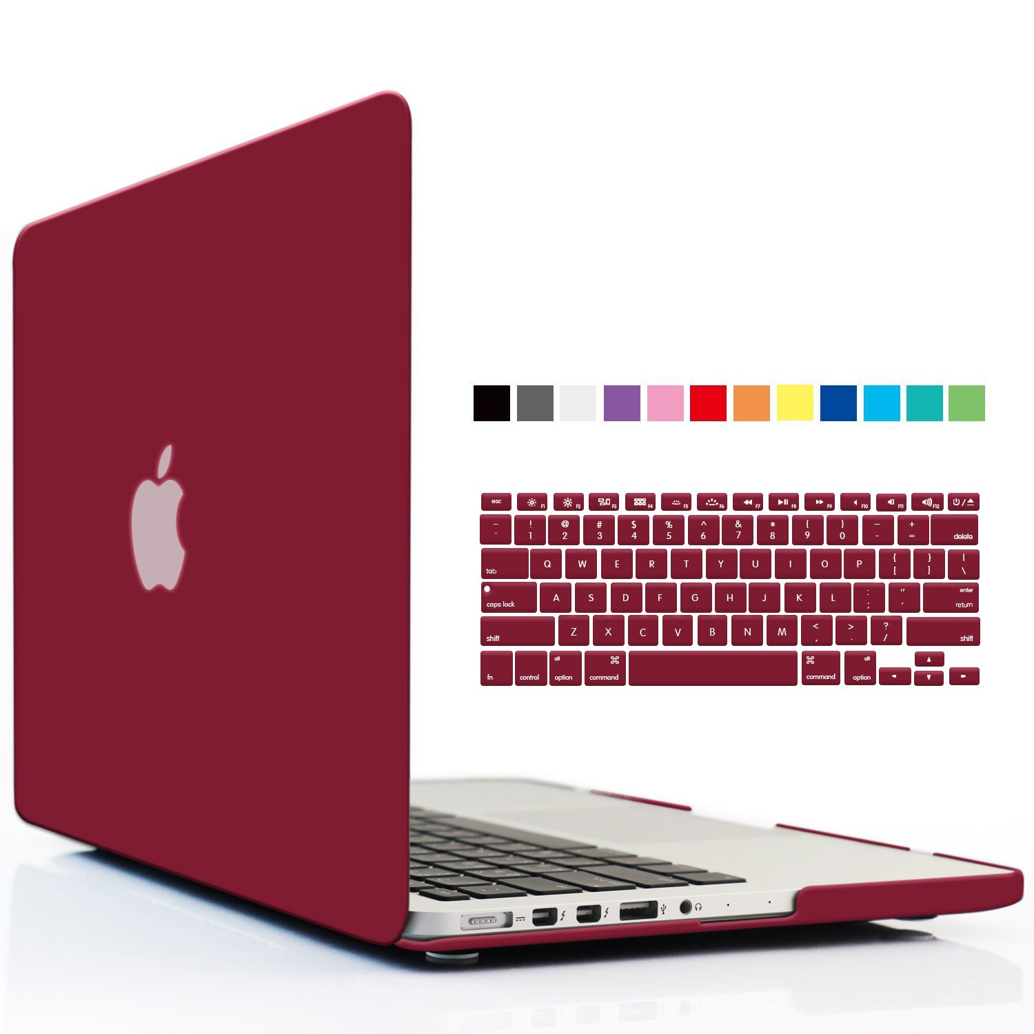 iBenzer - 2 in 1 Soft-Skin Smooth Finish Soft-Touch Plastic Hard Case Cover & Keyboard Cover for Macbook Pro 13.3