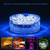 SLBSTORES Submersible LED Waterproof Light with Remote for wedding party event decoration 1 Pack