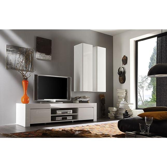 TV congelatore Amalfi Klein con 2ante, 140x 45x 50cm, Bianco Lucido