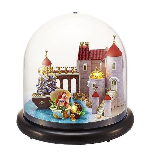 DIY En Bois faite à la main Dollouse miniature kit- Boîte en plastique LED Light & Boîte à musique