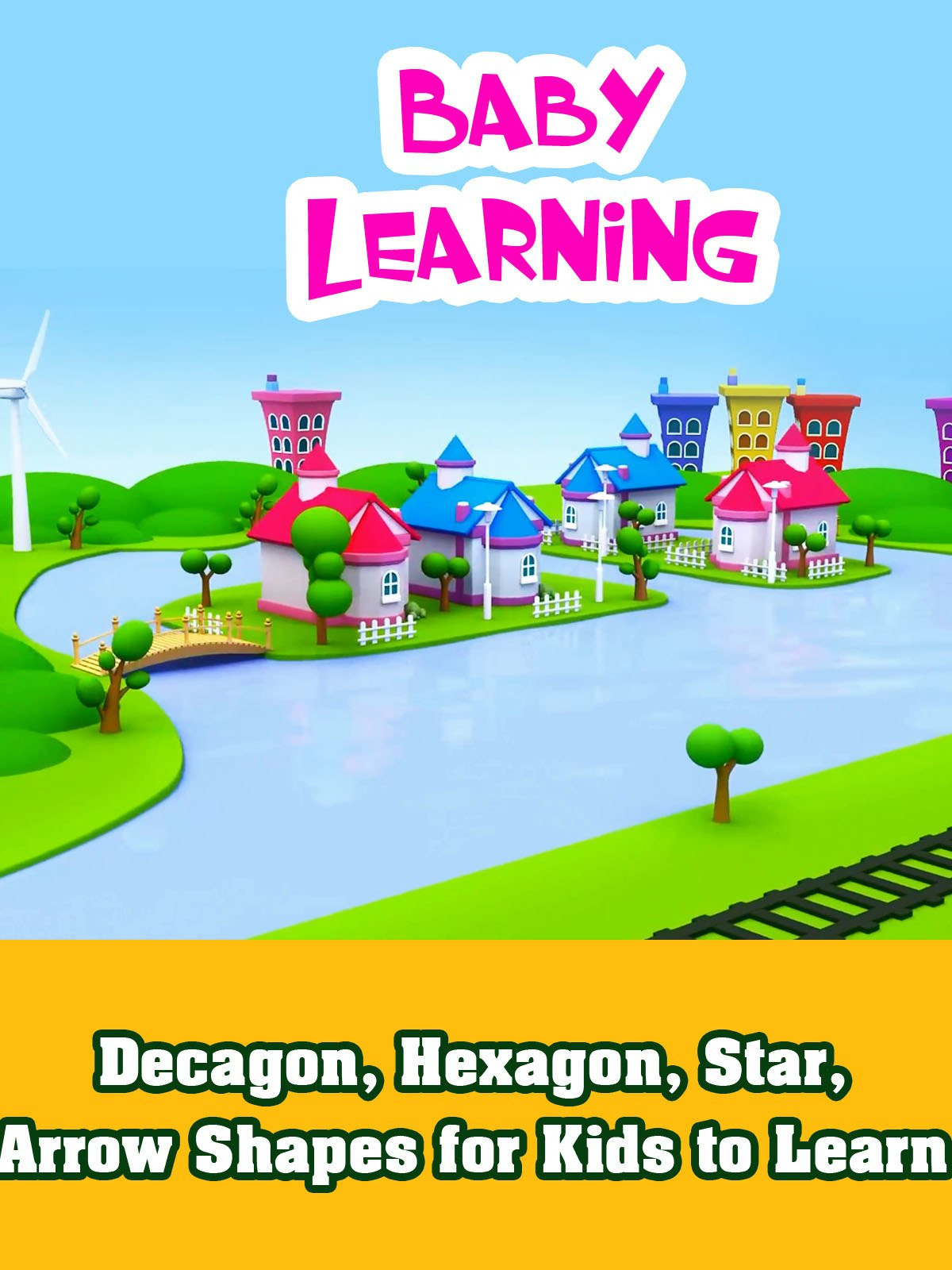 Decagon, Hexagon, Star, Arrow Shapes for Kids to Learn