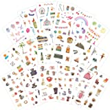 1000Art Planner Stickers Pack(18 Sheets / 200+) Holiday,Coffee,Travel Life Sticker Set for DIY Arts and Crafts,Planner,Notebook Journals,Scrapbooks,Calendars, Album (Color: Life Planner Pack A)