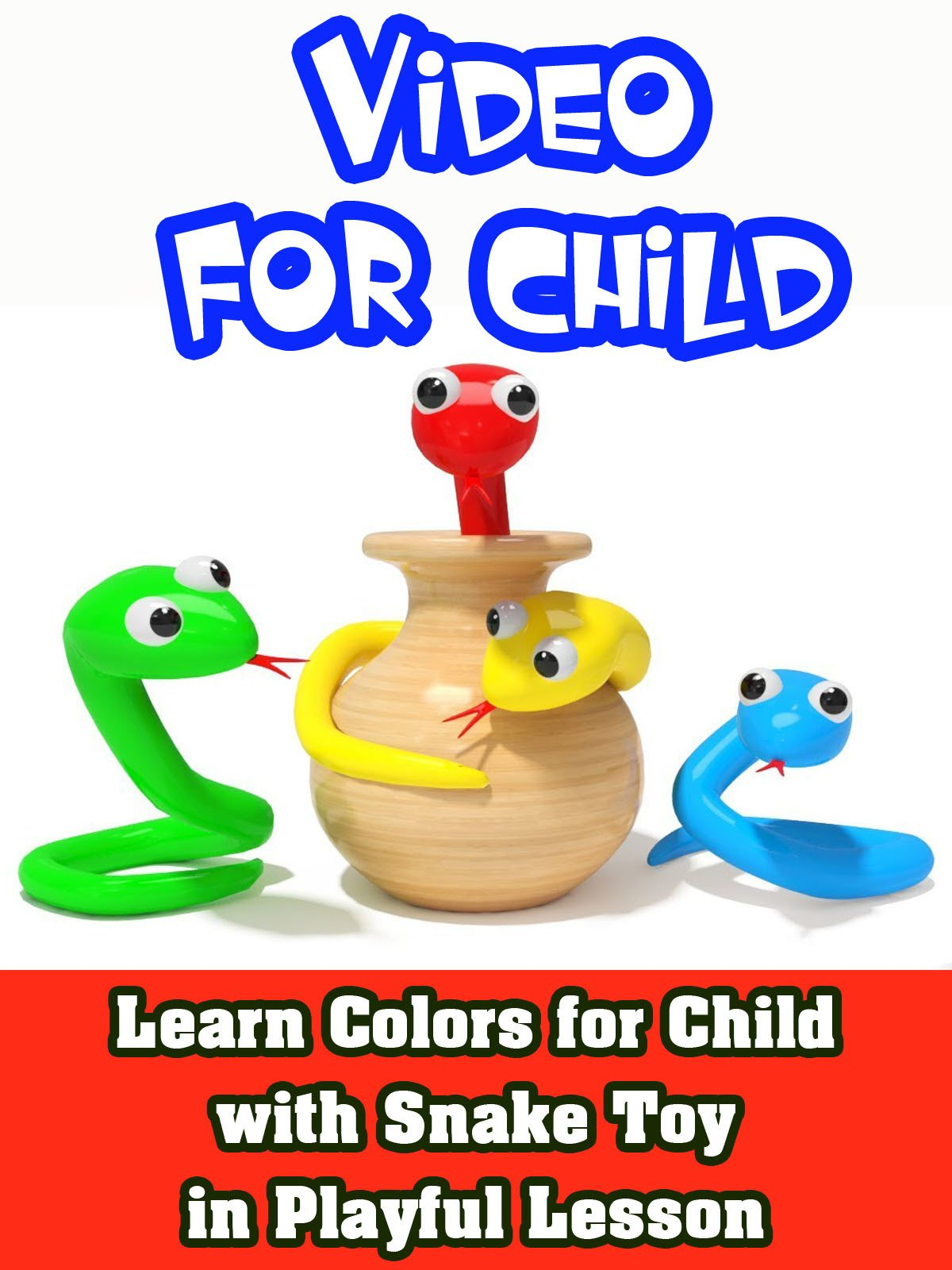 Learn Colors for Child with Snake Toy in playful lesson