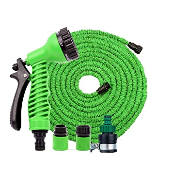 Magic Hose 100 Feet Expandable Garden Hose Spray Nozzle Combo in