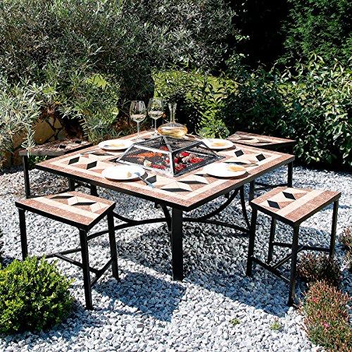 Mosaik-Grill-Sitzgruppe