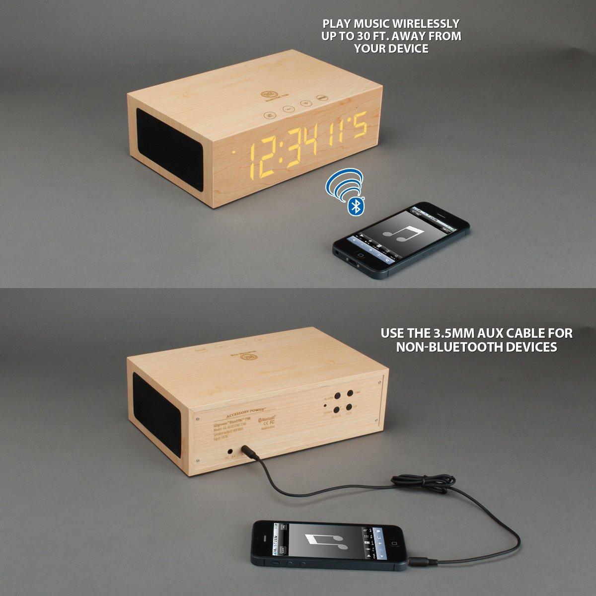 Parlante Bluetooth Reloj & Alarma Bamboo ...