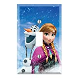 Single Toggle Wall Switch Cover Plate Decor Wallplate - Frozen Anna Olaf (Color: Multicolored, Tamaño: Midway)