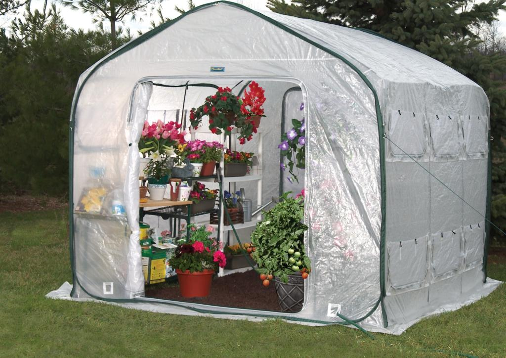 Flower House Greenhouse : Amazon flower house fhfh farmhouse walk in