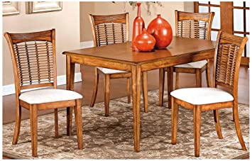 Bayberry 5 Piece Rectangle Dining Set- Oak