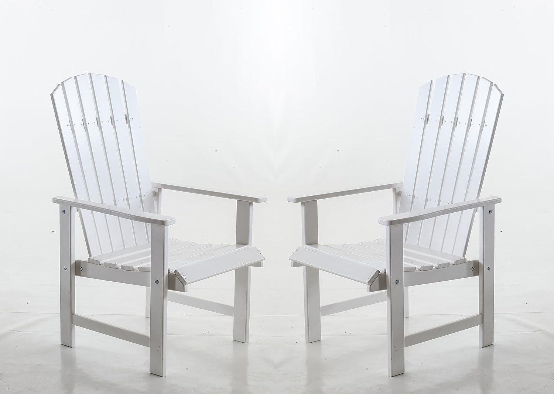 Ambientehome Gartensessel Stranda, Gartenstuhl, Sessel, 2-er Set, weiß günstig online kaufen