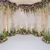 AOFOTO 10x10ft Arch for Wedding Ceremony Backdrop Interior Romantic Flower Canopy Archway Banner Photography Background Bride Girlfriend Lovers Fiancee Nuptial Decoration Studio Props Vinyl Wallpaper (Color: WED-A44, Tamaño: 10x10ft)
