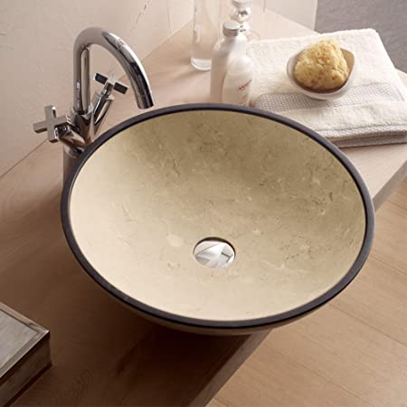 Luxury Beige Stone Bathroom Sink By MaestroBath