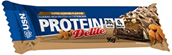 USN Protein Delite Bar 96g (Box of 12) Toffee Almond