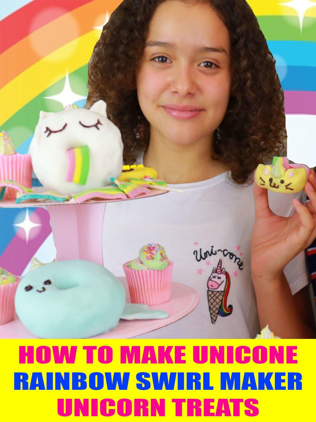 How to Make Unicone Rainbow Swirl Maker Unicorn Treats