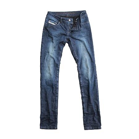John doe kAMIKAZE jeans pour femme coupe slim avec fibres en duPont kEVLAR ®-bleu