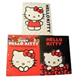 Hello Kitty 3 Folder Set ~ Kitty with White Kitty Face Background, Kitty with Red Bows, Say Hello to Me