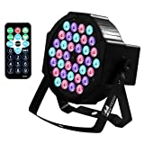 LED Up Lighting 36 RGB stage light, Missyee Sound Activated DMX 512 Controller Lighting Dj Par Can Lights with Remote Control for Birthday Party Wedding Bar Club Home Festival (1 pack) (Color: 36Led (1 packs))