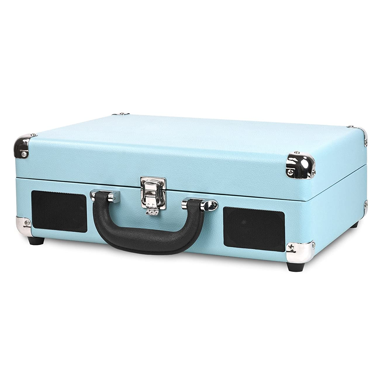 Victrola Nostalgic 3-Speed Vintage Bluetooth Suitcase Turntable, Turquoise 1