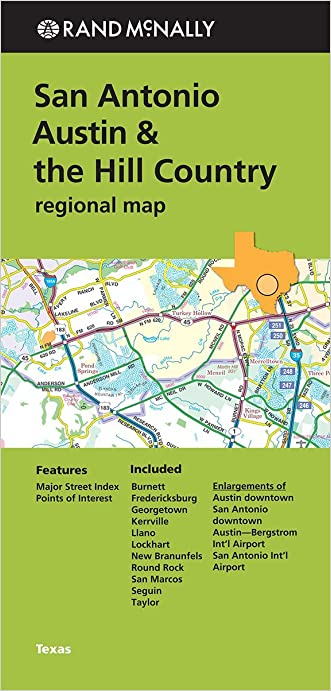 Folded Map: San Antonio Austin & the Hill Country Regional Map