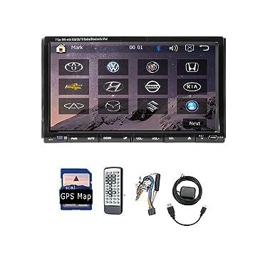 Nouveau všŠhicule DVD GPS Navigation Voiture radio stšŠršŠo Bluetooth šŠcran tactile TV universelle 7 pouces 2 Din taille avec MP3 FM AM SD USB Micro intšŠgršŠ voiture Rad