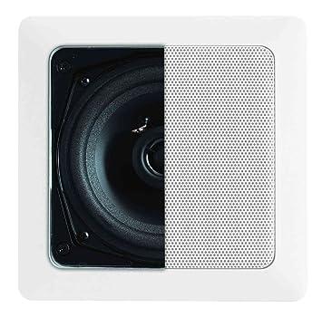"""Artsound Basic Encastrables DC101 Haut-parleurs multimédia Design """"carré"""" 70W Blanc"""