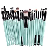 KOLIGHT 20 Pcs Pro Makeup Set Powder Foundation Eyeshadow Eyeliner Lip Cosmetic Brushes (Black?)
