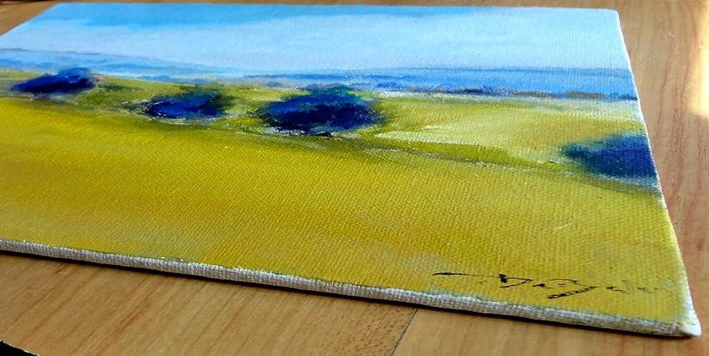 Amazon.com Art: blue on the yellow : Painting : Leonardo DeBak