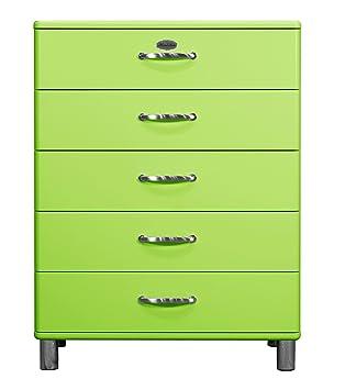 Tenzo 5295-021 Malibu - Designer Kommode, MDF lackiert, 111 x 86 x 41 cm, grun