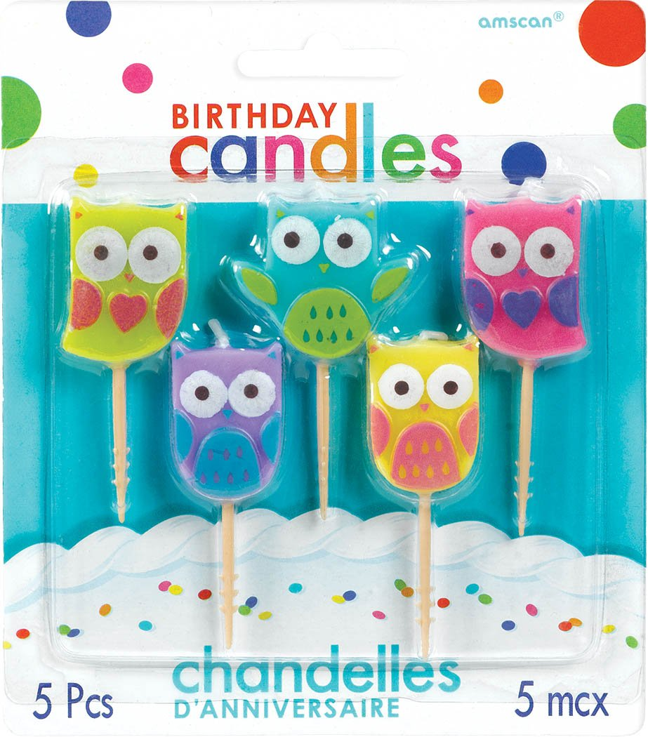 Amazon Owl Birthday Candles Only 504