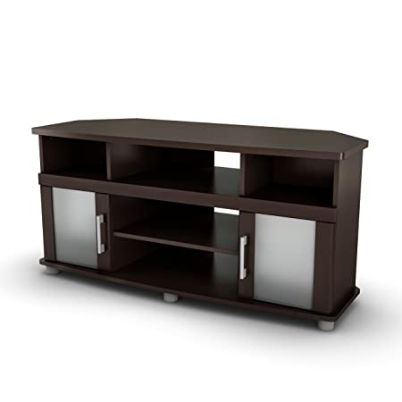 South Shore City Life Collection Corner TV Stand, Chocolate