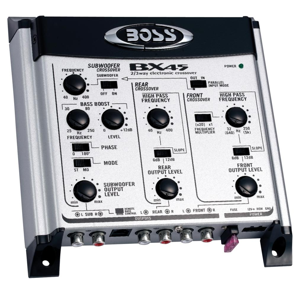 boss audio bx45 2 3 way pre amp electronic. Black Bedroom Furniture Sets. Home Design Ideas