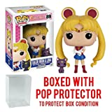 Funko Pop! Anime: Sailor Moon - Sailor Moon with Luna Vinyl Figure (Bundled with Pop BOX PROTECTOR CASE) (Tamaño: 3.75 inches)