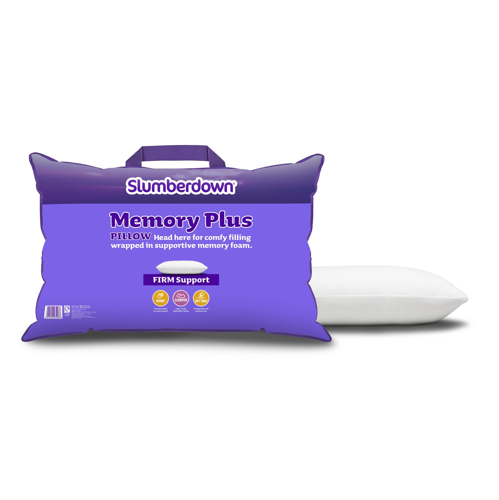 Slumberdown Traditional Memory Foam Pillow Review : Slumberdown Memory Foam Plus Pillow eBay